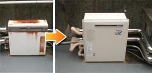 リンナイ ガス給湯器施工事例GT-161AR→RUF-A1610SAG(A)