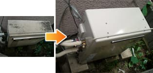 リンナイ ガス給湯器施工事例GFK160→RFS-A1610SA