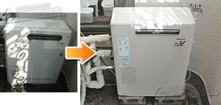 リンナイ ガス給湯器施工事例GQ-1621RX→RUX-V2016G-E