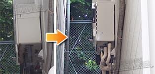 ノーリツ ガス給湯器施工事例GT-1600SAW→GT-1660AWX-1 BL