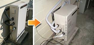 ノーリツ ガス給湯器施工事例GRQ-2010AX→GRQ-2050AX BL