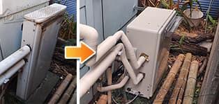 リンナイ ガス給湯器施工事例RFS-1612USA→RFS-A2003A