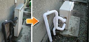 リンナイ ガス給湯器施工事例RFS-2002USA→RFS-A2003SA