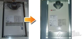 ノーリツ ガス給湯器施工事例GQ-1616WX-T→GQ-1637WS-T