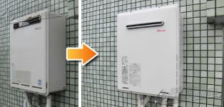 リンナイ ガス給湯器施工事例KG-A816RFWA-R→RUF-A1615SAW(A)