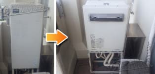 リンナイ ガス給湯器施工事例AT-247RA-AQ→RUF-A1615SAW(A)