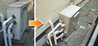 リンナイ ガス給湯器施工事例RUF-V2000SAG-1→RUF-E2008SAG(A)