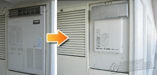 リンナイ ガス給湯器施工事例AD-2899AR1Q→RUX-A1610W-E