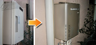 リンナイ ガス給湯器施工事例RGE-24KS→RUF-E2405SAW(A)