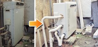 ほっとハウス リンナイ ガス給湯器施工事例KG-A816RFP-RSA→RUF-A1610SAG(A)