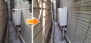 ほっとハウス パーパス ガス給湯器施工事例RUF-2008SAW→GX-H2000AW-1