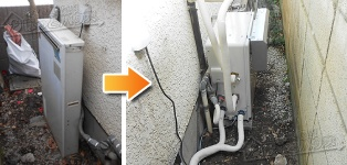 リンナイ ガス給湯器施工事例GRQ-162SA→RUF-A1610SAG(A)