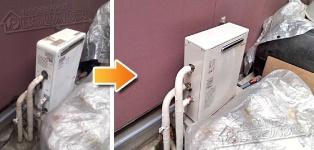 ほっとハウス リンナイ ガス給湯器施工事例NR-516RF-Q→RUX-A1613G
