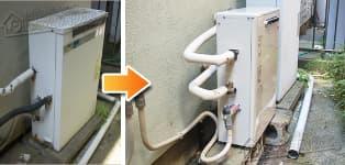 ほっとハウス リンナイ ガス給湯器施工事例TP-FQAZ20SR→RUX-A1613G