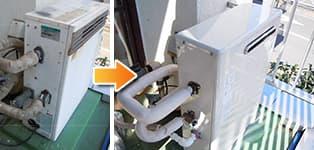 リンナイ ガス給湯器施工事例NR-516RFB→RUX-V1616G-E