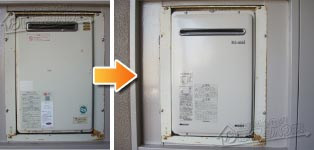 リンナイ ガス給湯器施工事例OUR-2450Q→RUX-A2406W-E