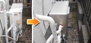 リンナイ ガス給湯器施工事例GT-2427SARX→RUF-E2405SAG(A)