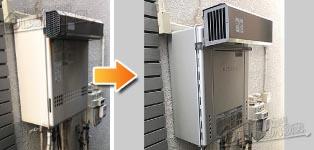 ノーリツ ガス給湯器施工事例GT-2412SAWX→GT-C2462SAWX BL
