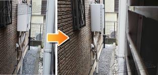 ノーリツ ガス給湯器施工事例GT-2422SAWX→GT-C2462AWX BL