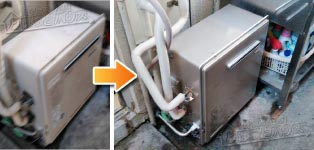 リンナイ ガス給湯器施工事例RUF-E1615SAG(A)→RUF-E1615SAG(A)