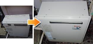 リンナイ ガス給湯器施工事例GRQ-1627SAX→RFS-A1610SA