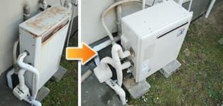 リンナイ ガス給湯器施工事例RFS-2400A→RFS-A2400SA