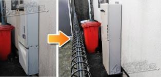 リンナイ ガス給湯器施工事例FH-242AWD(B)→RUF-A2405SAW(B)
