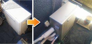 ノーリツ ガス給湯器施工事例GRQ-C2031AX-1→GT-C2062ARX BL
