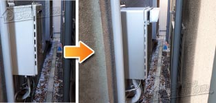 ノーリツ ガス給湯器施工事例GT-2428AWX→GT-C2462SAWX BL