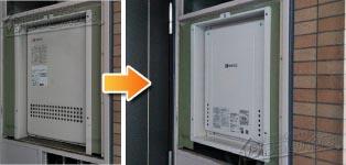 ノーリツ ガス給湯器施工事例GT-2427SAWX-H→GT-2460SAWX-H-1 BL