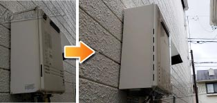 ノーリツ ガス給湯器施工事例GT-2417AWX→GT-2460AWX-1 BL